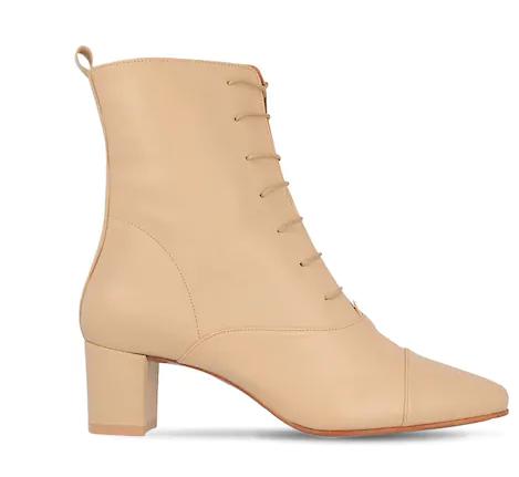 "BY FAR 50毫米""LADA""皮革系带靴"