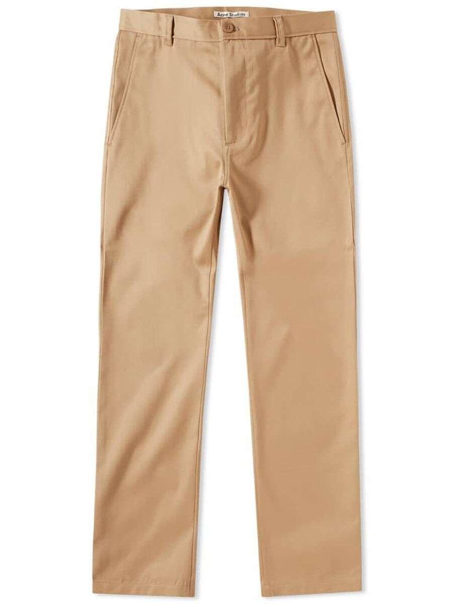 ACNE STUDIOS Alfred Brown Slim-Fit Trousers