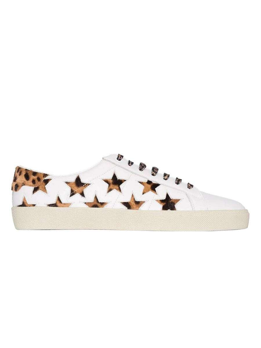 SAINT LAURENT Star Print Court Sneakers