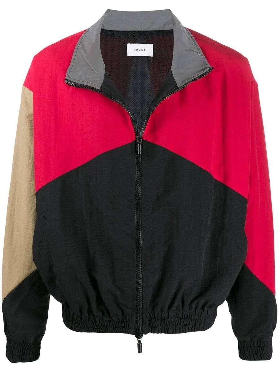 RHUDE Color-Blocked Logo Jacket