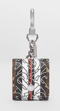 Monogram Stripe E-canvas Earphone Case